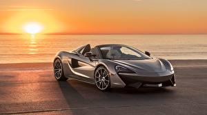 Wallpapers Sunrises and sunsets McLaren Roadster Grey 570S 2018 Spider automobile