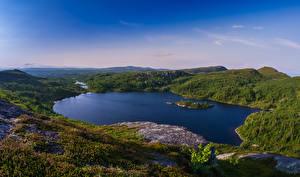 Bilder Schweden Landschaftsfotografie See Hügel Hotagen