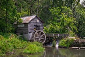 Fotos USA Flusse Wassermühle Hyde Wisconsin