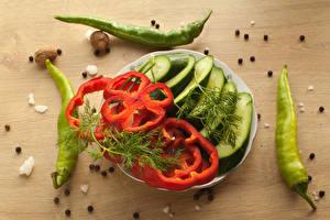 Hintergrundbilder Gemüse Paprika Gurke Dill das Essen