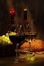 Pictures Wine Grapes Stemware 2