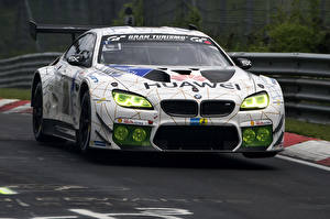 Pictures BMW Tuning White 2015-16 M6 GT3 automobile