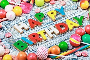 Fotos Geburtstag Süßware Bonbon Englisch Wort Lebensmittel