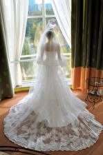 Hintergrundbilder Brautpaar Kleid Hinten Mädchens