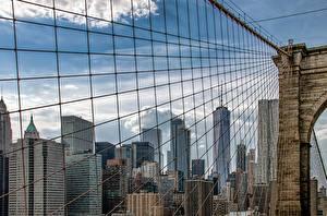Hintergrundbilder Brücken Vereinigte Staaten Gebäude New York City Brooklyn Bridge