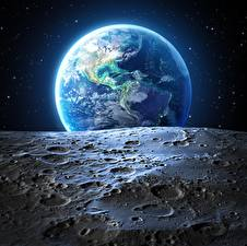 Pictures Earth Moon