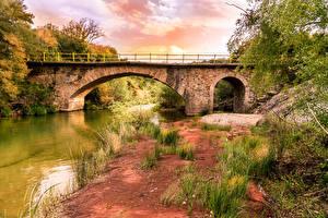 Hintergrundbilder Griechenland Fluss Brücke Küste Kyparissia Natur