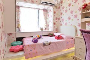 Bilder Innenarchitektur Kinderzimmer Design Bett Fenster
