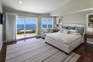 Photo Interior Design Bedroom Bed Rug