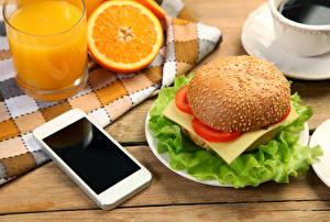 Bilder Fruchtsaft Orange Frucht Gemüse Burger Trinkglas Smartphone Lebensmittel