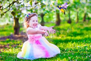 Wallpapers Little girls Joyful Hands Children