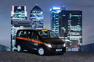 Sfondi desktop Mercedes-Benz Taxi - Auto Nero 2017 Vito Taxi 114 CDI autovettura