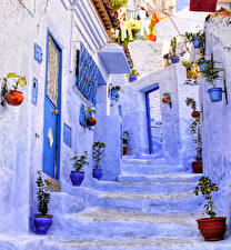 Images Morocco Building Street Stairs Chaouen Cities