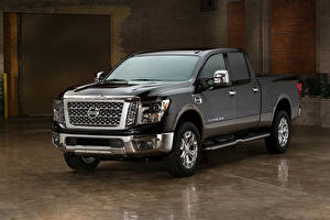 Fotos Nissan Pick-up Graue 2016 Titan XD auto