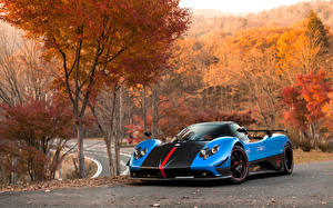 Wallpapers Pagani Light Blue Metallic 2009 Zonda Cinque Roadster automobile