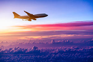 Bilder Flugzeuge Verkehrsflugzeug Himmel Wolke Luftfahrt