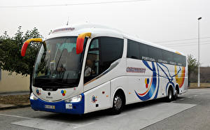 Wallpaper Scania Bus White IRIZAR PB SCANIA