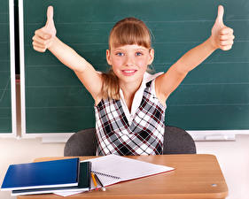 Images School Fingers Little girls Hands Notebooks Children