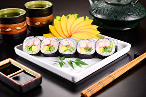 Hintergrundbilder Meeresfrüchte Sushi Sojasauce Lebensmittel