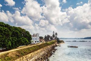 Fotos Sri Lanka Küste Gebäude Leuchtturm Wege Galle Städte