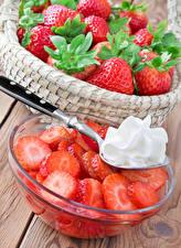 Fotos Erdbeeren Die Sahne