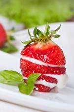 Hintergrundbilder Erdbeeren Die Sahne Lebensmittel