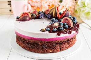 Hintergrundbilder Süßigkeiten Torte Echte Feige Heidelbeeren Powidl Lebensmittel