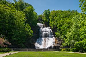 Fotos Vereinigte Staaten Wasserfall New York City Felsen Montour Falls Natur