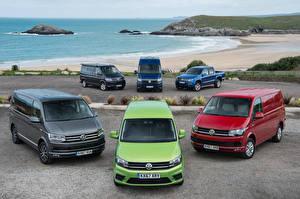 Bakgrundsbilder på skrivbordet Volkswagen Många Bilar