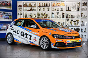 Wallpaper Volkswagen Tuning Orange 2018 Polo GTI Cup auto