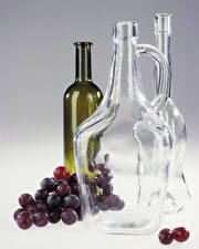 Pictures Wine Grapes Bottle