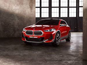 Images BMW Red Metallic 2016 Concept X2 automobile