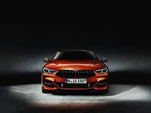 Bilder BMW Vorne Orange Coupe 8-Series 2018 auto