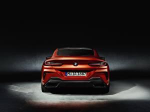 Bilder BMW Hinten Orange Coupe 8-Series 8er 2018 Autos