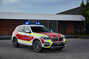 Picture BMW Tuning Police 2018 X3 xDrive20d Feuerwehr auto