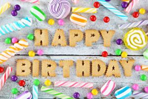 Hintergrundbilder Geburtstag Süßigkeiten Bonbon Bretter Englisch Wort Lebensmittel