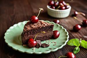 Hintergrundbilder Torte Kirsche Teller Stück Lebensmittel