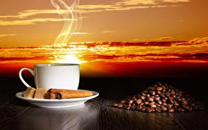 Bilder Kaffee Zimt Tasse Getreide