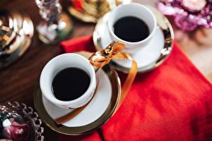 Fotos Kaffee 2 Tasse Schleife