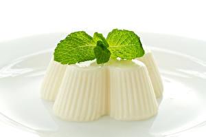 Bilder Dessert Gelee Weiß Minzen