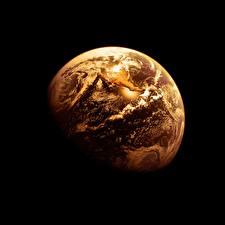 Photo Earth Black background