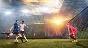 Bilder Fußball Mann Torhüter Rasen sportliches