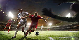 Hintergrundbilder Fußball Mann Rasen Ball Sport