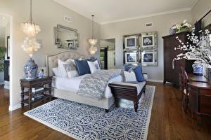 Picture Interior Design Bedroom Bed Carpet Chandelier