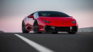 Hintergrundbilder Lamborghini Rot Novara VAG Huracan