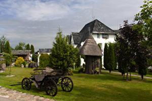 Bakgrunnsbilder Litauen Hus Ferdigplen Kretinga Natur