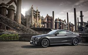 Pictures Mercedes-Benz Gray Side Coupe AMG C 43 4MATIC 2018 auto