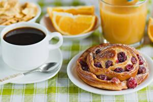 Fotos Backware Kaffee Obstkuchen Teller Tasse Lebensmittel