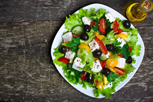 Image Salads Vegetables Olive Cheese Plate