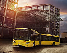Hintergrundbilder Scania Omnibus Gelb 2012-18 Citywide LFA